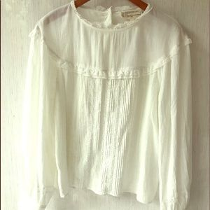 Current Elliott White Cotton Prairie Lace Top